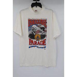 All American Wear mens L 1997 clinton shirt white